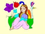 "Раскраски для девочек онлайн ""Жасмин"""