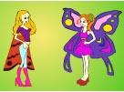 """Раскраски для девочек онлайн """"Феи красотки"""""""
