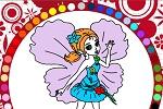 """Раскраски для девочек онлайн """"Цветочная фея"""""""