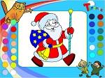 """Раскраска онлайн """"Дед мороз"""""""