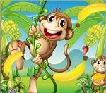 """Пазл """"Озорные обезьянки"""""""