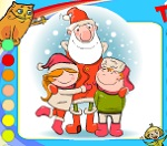 """Новогодняя раскраска """"Встреча с Дедом Морозом"""""""