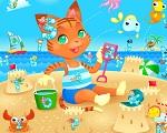 """Игра """"Котёнок на пляже"""""""