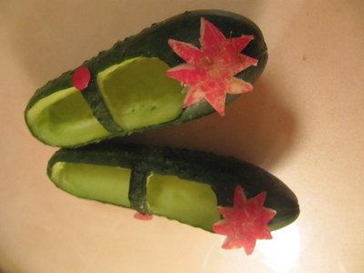 Поделки из овощей туфельки 40