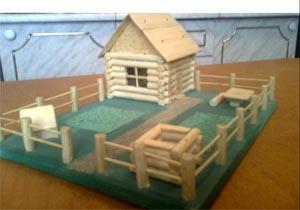 Как сделать домик на поделку