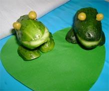 """поделки из овощей """"Лягушки"""""""