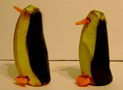 """фото поделки из природного материала """"Пингвины"""""""""""